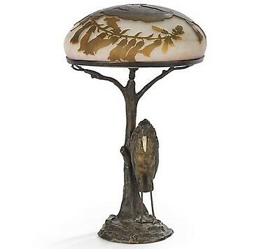 Emile Galle French Cameo Glass Vase, circa 1900