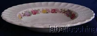 """Copeland Spode Rose Briar 9.25"""" Oval Vegetable Bowl Chelsea Wicker English China"""