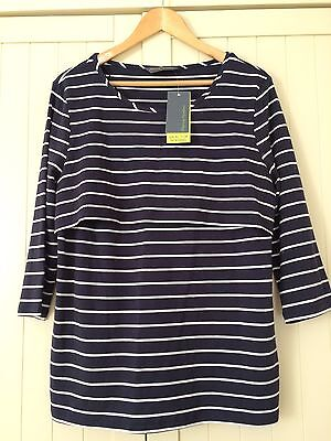 BNWT Blooming Marvellous Mothercare Navy & White Striped Nursing top Size Large