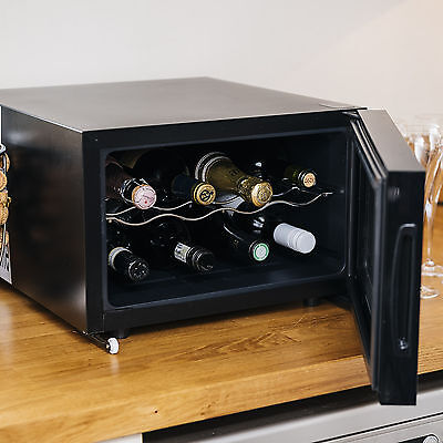 Ovation Wine Bottle and Drinks Thermoelectric Cooler / Fridge -Horizontal, Black