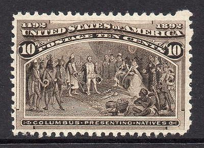 U.S.A. 10 Cent Columbus Stamp  c1893 Mounted Mint
