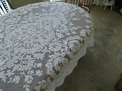Solid Cream Quaker Lace Dinner Cloth ,Lovely Design