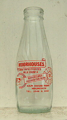 milk bottle :  lovely old Moorhouses of Holmfirth : dairy