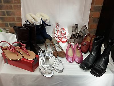 Job Lot 10 Leather & fashion shoes heels flats boot size 4 5 6 7 8 Clarks Hotter