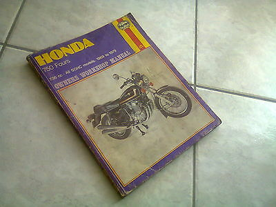 Manuale Officina Honda 750 Fours 736 CC All SOHC models 1969/1979 anche sidecar
