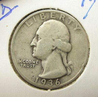 US 1936D 1936 D Quarter F (us10) 25 Cents