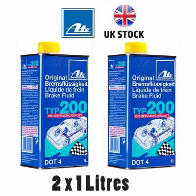 ATE Typ 200 DOT4 Performance Racing Brake Fluid Replaces Super Blue 2 X 1 Litres