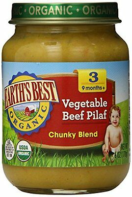 Earth''s Best Organic Stage 3, Vegetable & Beef Pilaf, 6 Ounce Jar Pack of 12
