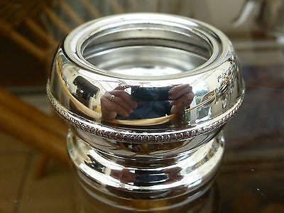 Vintage Silver Plated Pot With Beaded Base    #131116012/015