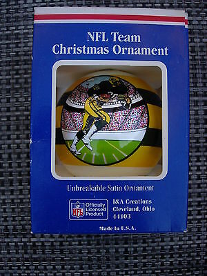 GREEN BAY PACKERS Superbowl Hopeful Satin Ornament Vtg NFL Football