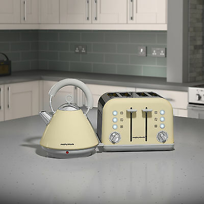 Morphy Richards Accents Kettle And Toaster Set In Cream S/Steel 102032 / 242033