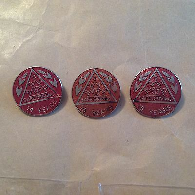 ROSCO safe driving badges 14 - 15 and 16 years