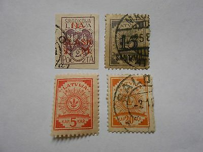 Timbres Lettonie