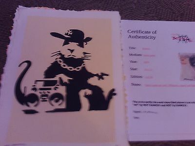 banksy artwork by not banksy full coa ltd to2/ 20 long sold out