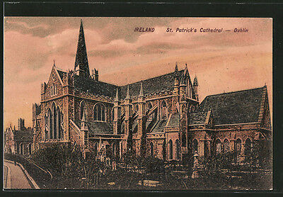 tolle AK Dublin, St. Patrick´s Cathedral 1914