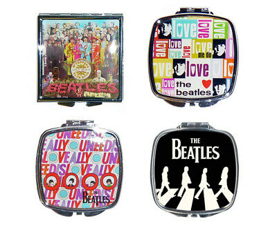 Official The Beatles Compact Make Up Mirror Abby Road All You Need Is Love Help