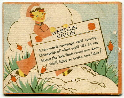 "1931 Birth Announcement Card: ""Western Union Telegram Style"""