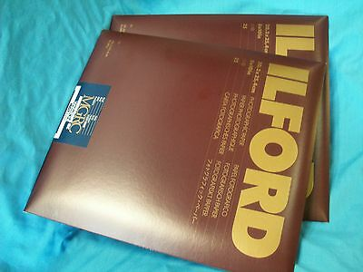 """Two packs of Ilford Multigrade RC Warmtone 8"""" x 10"""" 50 Sheets Pearl Paper"""