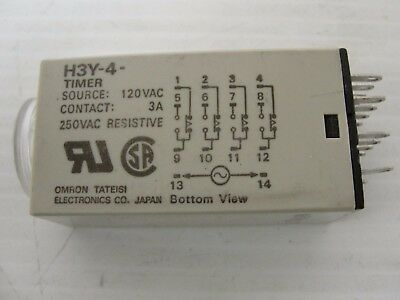 Omron Relay H3Y-4 3M Time Relay, 120 VAC