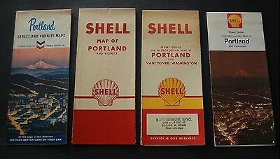 Lot of 8 Vintage Oregon Gas Station Road Maps - Shell / Chevron / Skelly