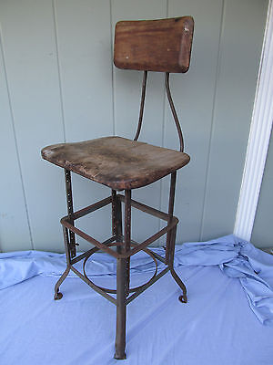 Vintage/Antique Industrial Drafting Stool by E L Koenig Sit-Rite Posture Chair