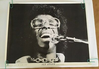 Sly and the Family Stone vintage poster pin-up photo on stage afro glasses SLY