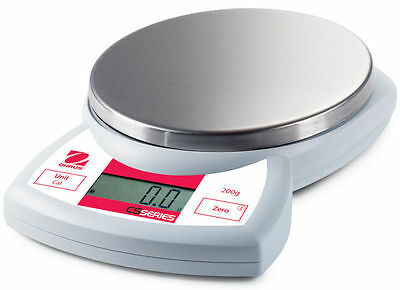 Ohaus CS2000 Compact Scale for Laboratory Use. Min/Max Readability: 1 / 2000 g