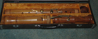 Cherry Wood Bass Recorder- Zenon with Case