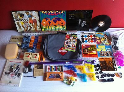 Mixed lot, toys, cycle parts, golf, art, music, stationary, car boot sale lot