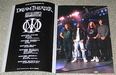 Dream Theater JAPAN tour book 1st 1995 tour AWAKE others listed JOHN Petrucci