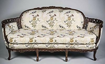 Fine Louis XV Style Canape en Corbeille Settee Sofa Loveseat Chaise Couch French