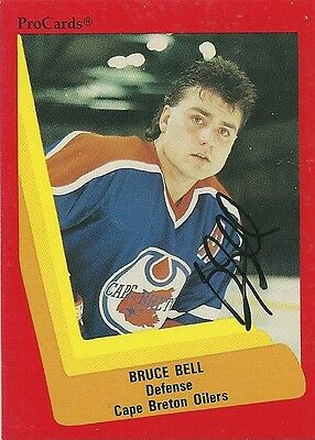 Bruce Bell - Autographed Trading Card .
