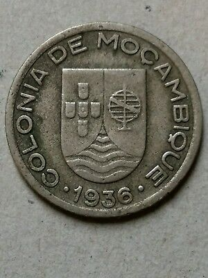 Portugal Mozambique Colonies 1936 50 Centavos Coin