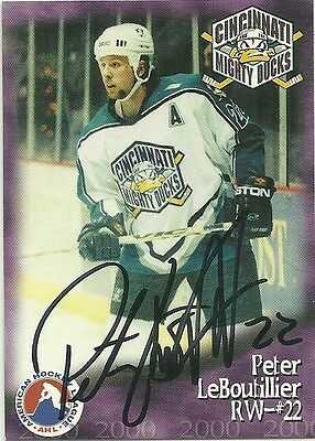 PETER LeBOUTILLIER - AUTOGRAPHED TRADING CARD .