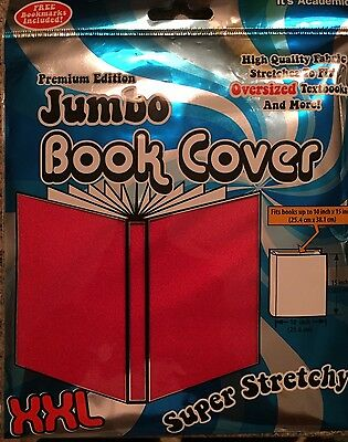 Premium Edition XXL Book Covers Red Stretch Fabric New in Package