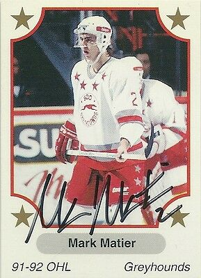 Mark Matier - Autographed Trading Card .