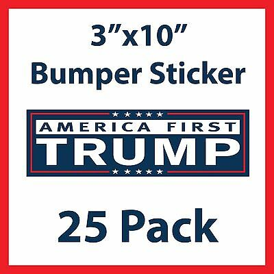 America First Donald Trump President Bumper Stickers - 25 Pack