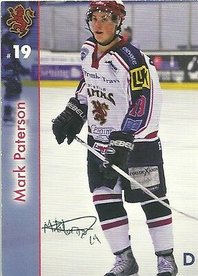 Mark Paterson - Autographed Trading Card .