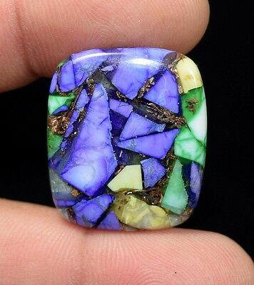 17.90  Cts.  Natural  Colorful  Copper  Howlite  Cushion  Cab Loose  Gemstones