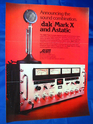 DAK Mark IX and Mark X Dealer Advertising Brochures Full Color - NICE!