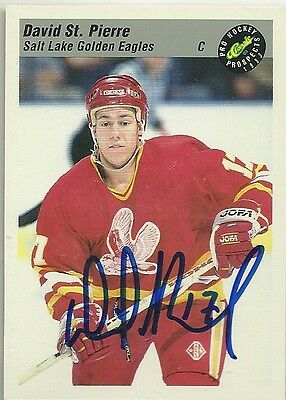 David St. Pierre - Autographed Trading Card .