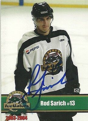 Rod Sarich - Autographed Trading Card .