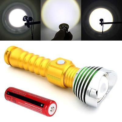 USB Charge Or 8000 Lumen charge CREE T6 LED Flashlight Chasse + Batterie F4 DC