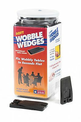Wobble Wedge - Soft Black - Table Shims - 75 pc New