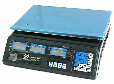 Acs Digital Price Computing Scales 40Kg Fruit Veg Shop Weigh & Price Scale