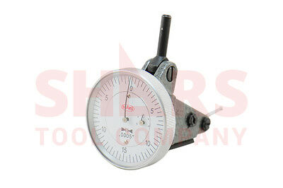 "Swiss Type Vertical Dial Test Indicator .0005 Graduation 0-0.060"" Dovetail SHARS"