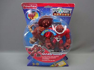 """New Fisher Price Planet Heroes Mars """"Digger"""" Spinning Drill With Comic Book"""
