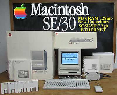  1989 Apple Macintosh Mac se/30 In Original Shipping Container MAX RAM and MORE