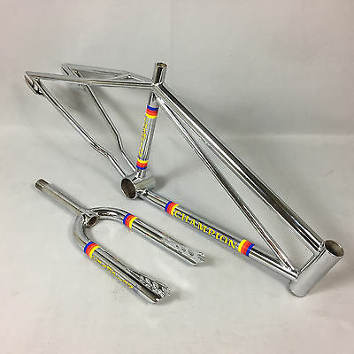 """Old School 1981-82 Champion Racing 20"""" BMX Frame & Fork Set in Gorgeous CHROME!"""