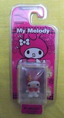 Hand Crafted Glass My Melody collectible mini Figurine NIP Ltd. Edition 48076